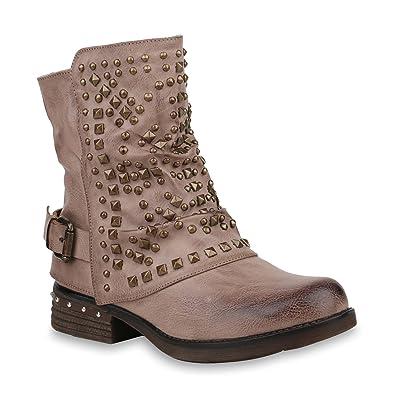 Damen Biker Boots Leicht Gef tterte Stiefel Stiefeletten 818853 Hot