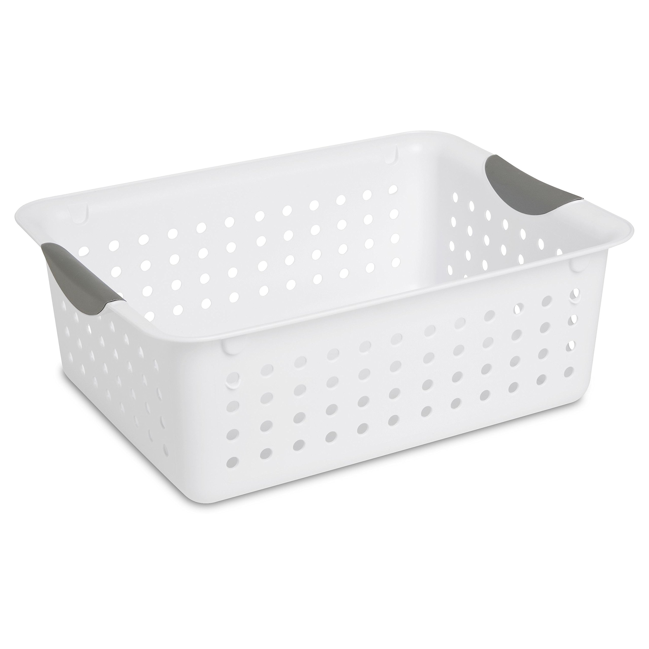 STERILITE 16248006 Medium Ultra Basket, White Basket w/Titanium Inserts, 6-Pack by STERILITE (Image #2)
