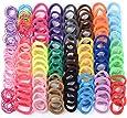 200pcs Gomas del Pelo Elásticas Multicolor Lazo de Pelo Coleteros Pelo (100pcs grandes, 100pcs Pequeñas) para Niña Mujer