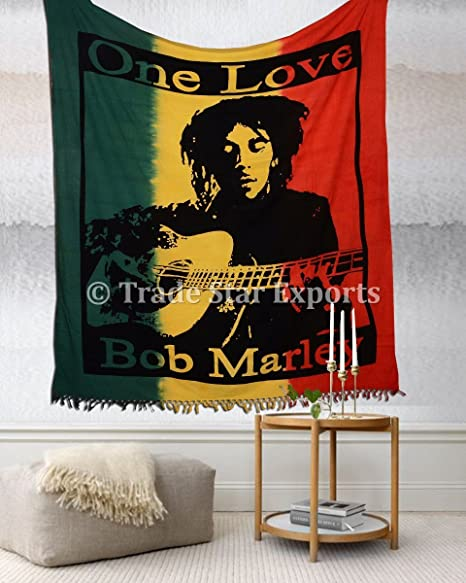 Amazon Com Bob Marley Wall Tapestry Bohemian Bedding Queen Large