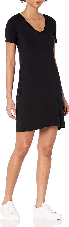 Daily Ritual Women's Jersey Short-Sleeve V-Neck T-Shirt Dress