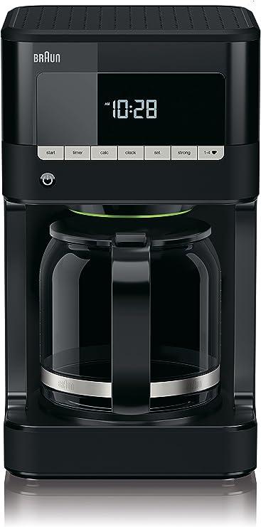 Braun KF 7020 Cafetera eléctrica semi-automática con jarra de cristal, 1000 W, 12 tazas, acero inoxidable, negro: Amazon.es: Hogar