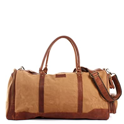 473927a7d7a3 LECONI Reisetasche für Damen + Herren Canvas Handgepäck Leder Sporttasche  Unisex groß Weekender für Reise, ...