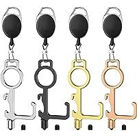"""Upgrade No Touch Door Opener Tool, 1.18"""" Wider Touchless Door Opener with Retractable Keychain for More Door Handles…"""