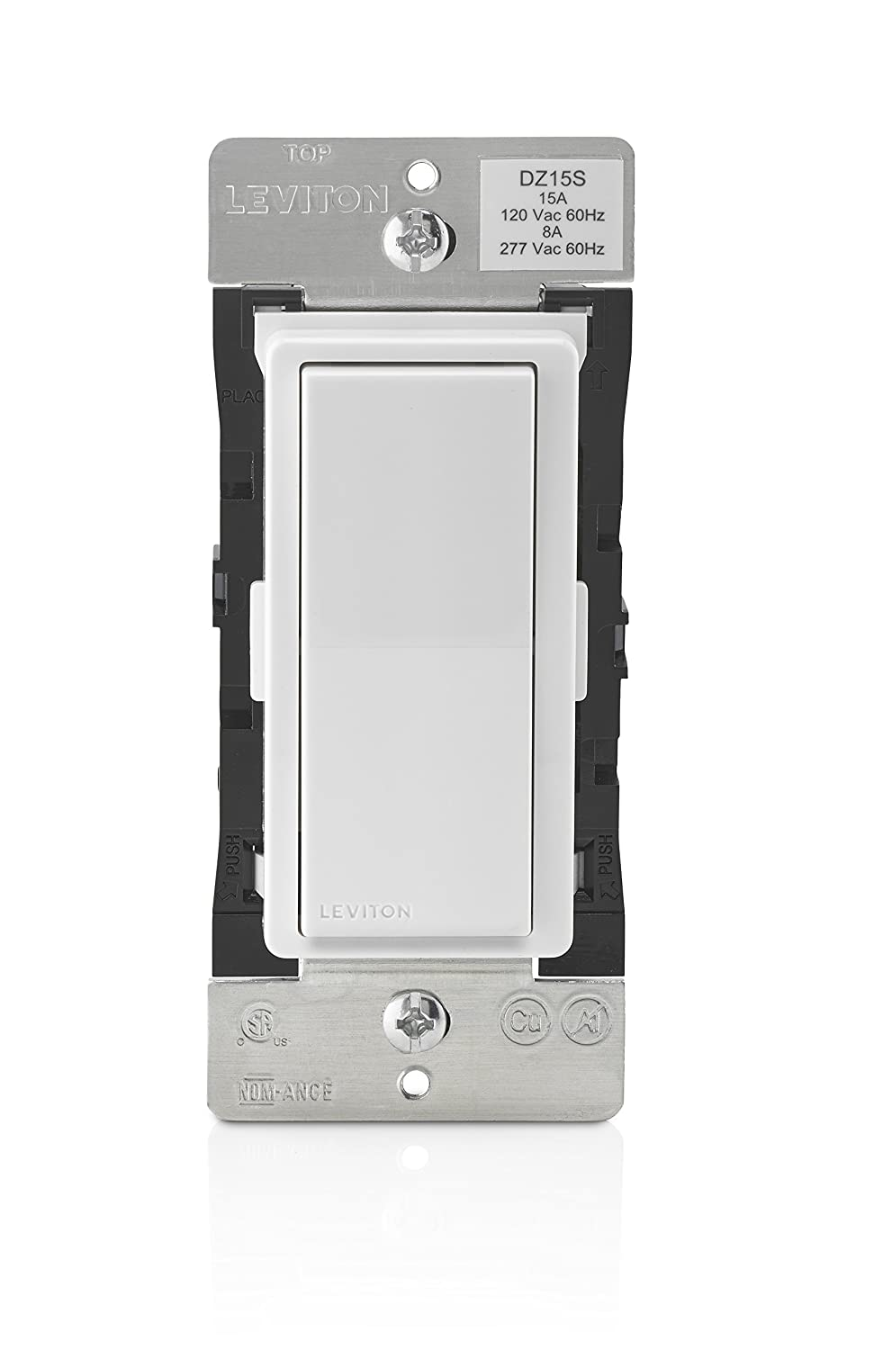 Leviton DZ15S-1BZ Decora Smart Switch with Z-Wave Plus Technology ...