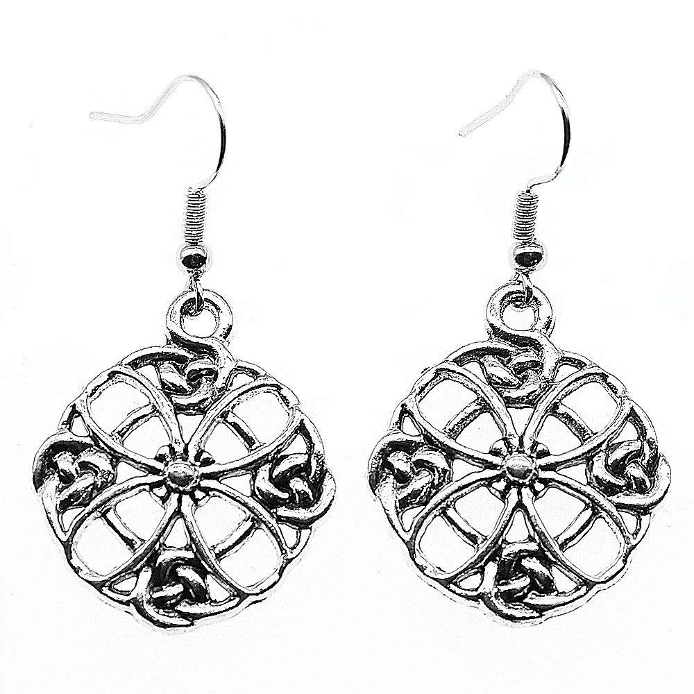 Taliyah 1 Pair Hollow Flowers Drop Earrings Jewelry Earrings with Earring Cap
