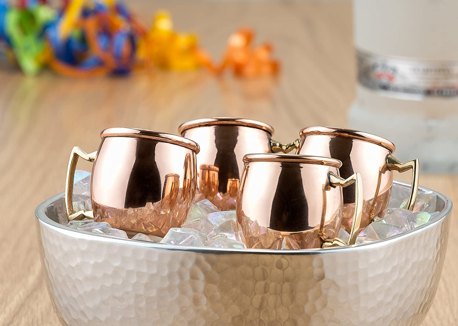 Old Dutch 2-Ounce Solid Copper Moscow Mule Shot Mugs, Set of 8 (OS418) Old Dutch Int'l LTD