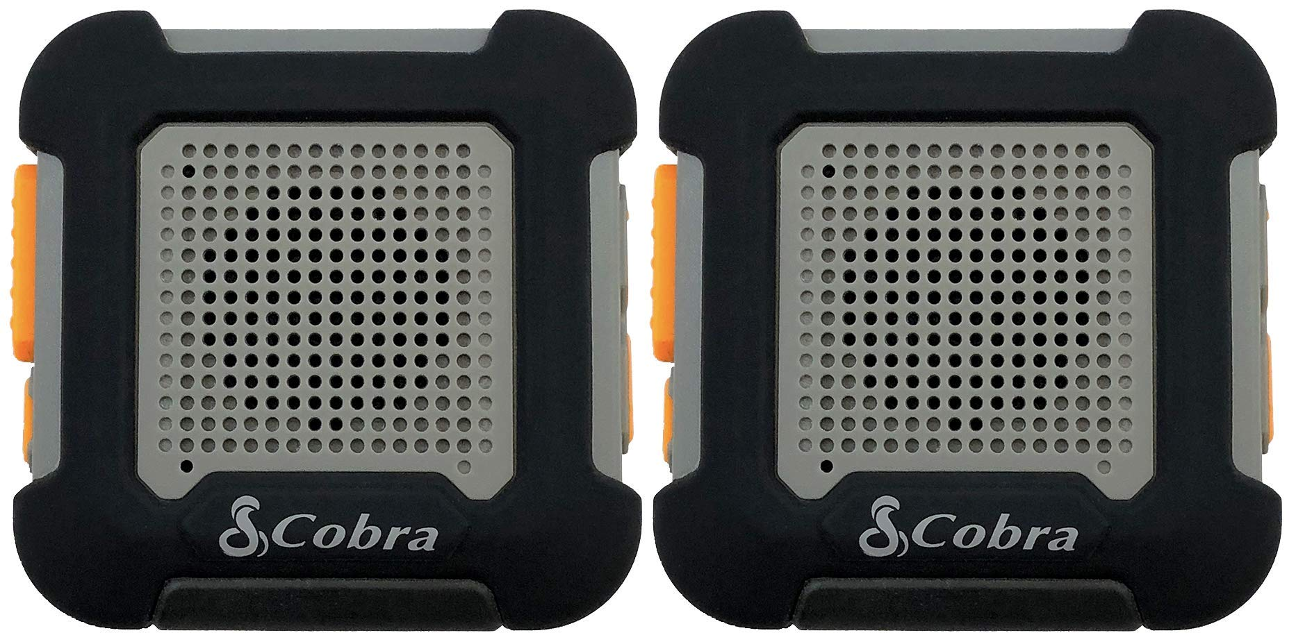 Cobra ACT220B Wearable Walkie Talkies Chat Tag Rock Hands Free 12-Mile Radios (Pair)