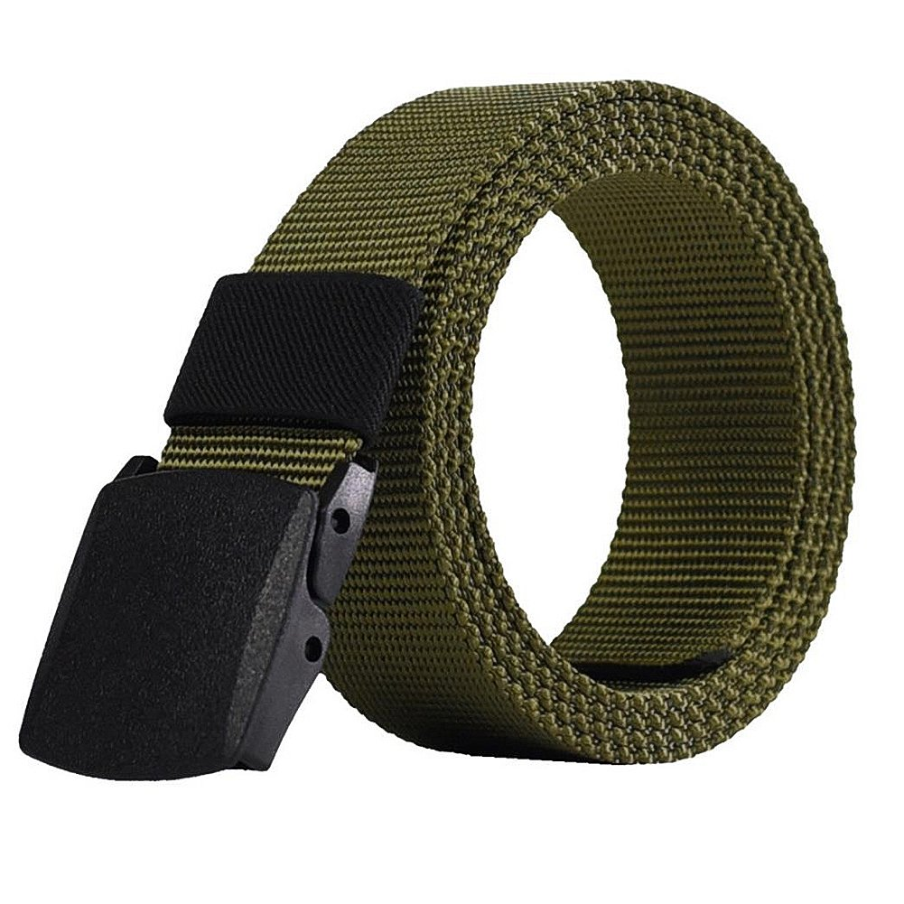 Skyeye 1 Stück Outdoor Casual Quick Military Training Anti-allergic Plastic Buckle Canvas Belt 110x3.8cm Dunkelgrün