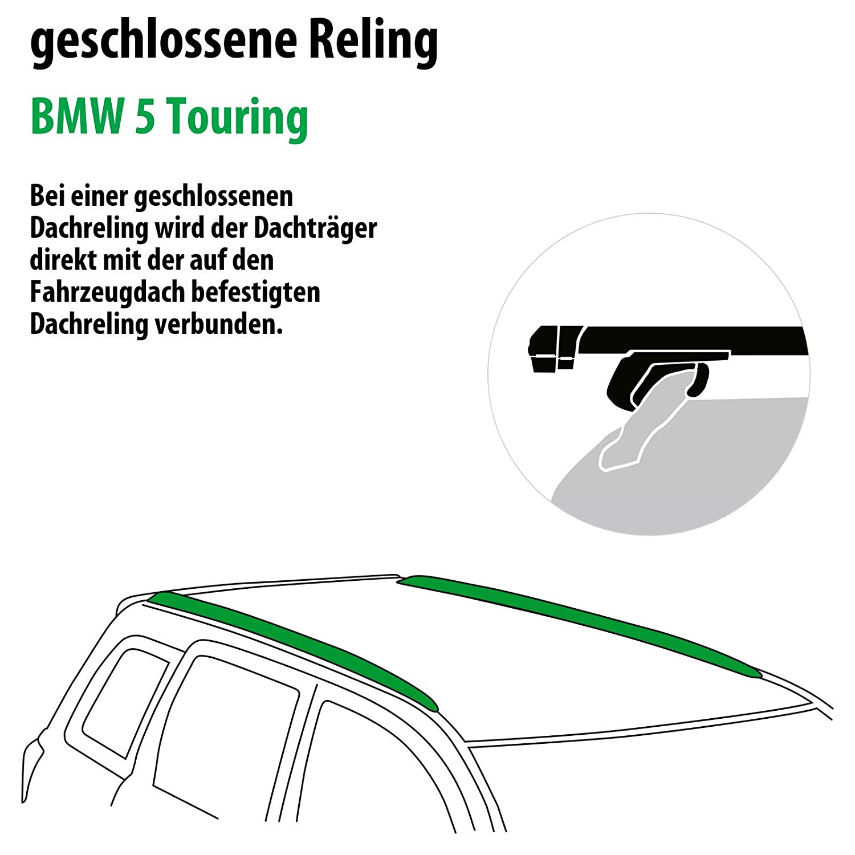 Rameder Komplettsatz 111287-37535-1 Dachtr/äger Pick-Up f/ür BMW 5 Touring
