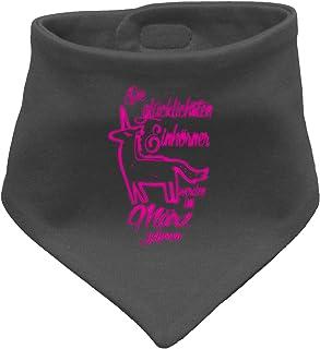 Die Glücklichsten Einhörner werden im März geboren! Perfektes Geburtstagsgeschenk - Baby Halstuch