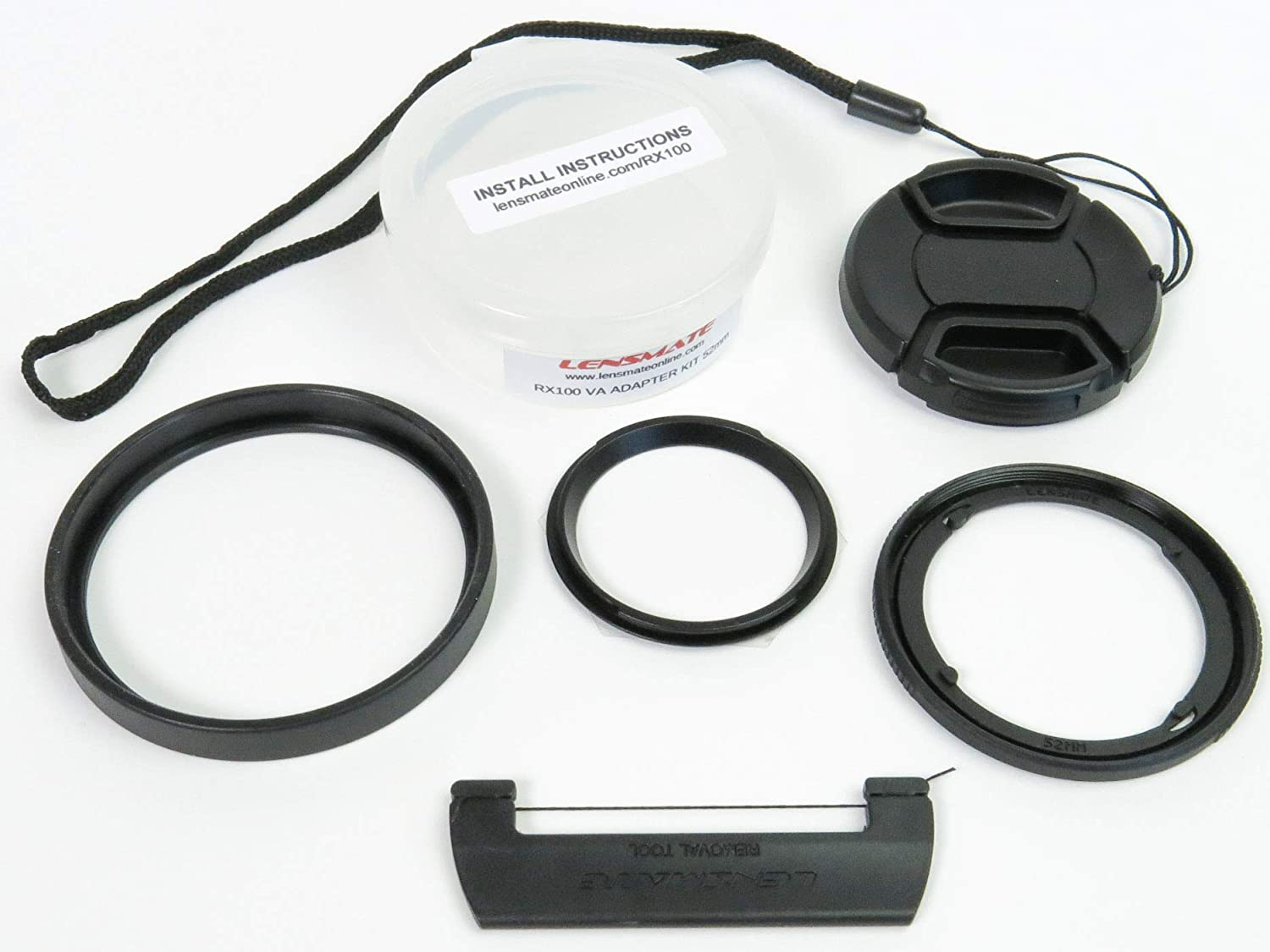 Lens//Filter Adapter Ring 52mm for Sony DSC-RX100 RX100 II III IV Camera