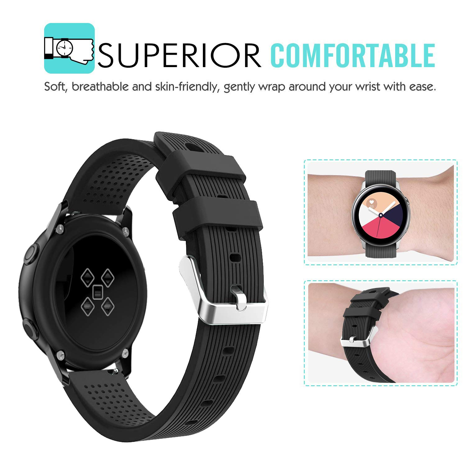 Amazon.com: Compatible Samsung Galaxy Watch Active (40mm ...