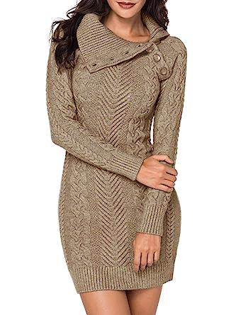 comprare on line e811b cb376 Aleumdr Abito Donna Invernale Collo Rotondo Vestiti Donna Invernali