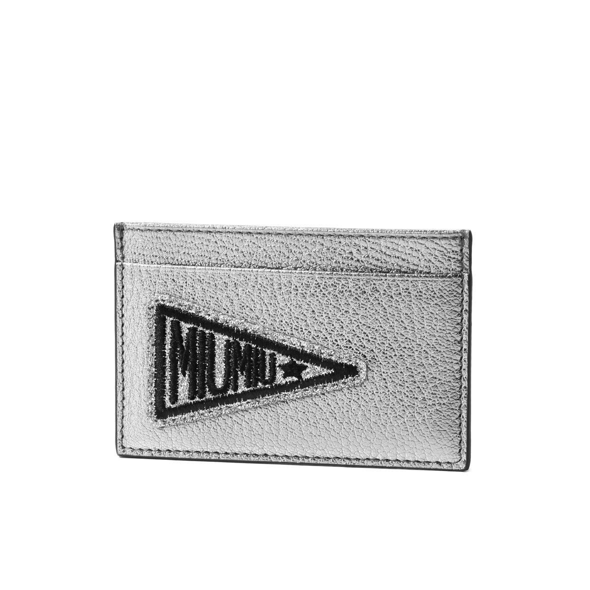 (ミュウ ミュウ) MIU MIU カードケース MADRAS GLITTER シルバー 5MC208 2BS6 F0135 [並行輸入品]   B07CJXSRCS