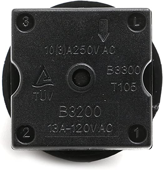 13A 250V Hi-Quality Turn Switch 3 Speed 4 Position Fan Selector Rotary Switch
