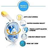 Easybreath Vollgesichtsmaske für Kinder und Erwachsene, Schnorchel- und Tauchmaske, Anti-Fog- und Anti-Leck-Technologie mit 180° Blickfeld (inkl. wasserdichter Handytasche)
