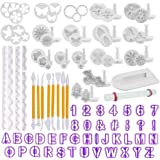 Fondant Tools OFNMY 108pcs Fondant Cutter Cake Decorating Kit Cake Baking Tools Sugarcraft Icing Decoration Kit Flower…