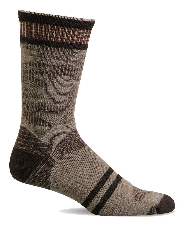 Sockwell Men's Camo Crew Moderate Graduated Compression Sock, Khaki - L/XL by Sockwell