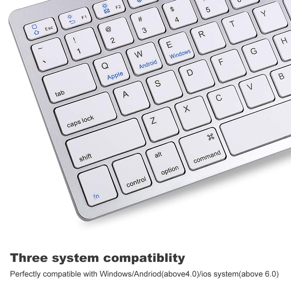 iPad Mini and Other Bluetooth Enabled Devices,Ultra Slim Aluminum Keyboard with 7 Colors Backlit iPad Air Wireless Bluetooth Keyboard Compatible with 2018 iPad Pro 11//12.9,iPad 9.7 Inch