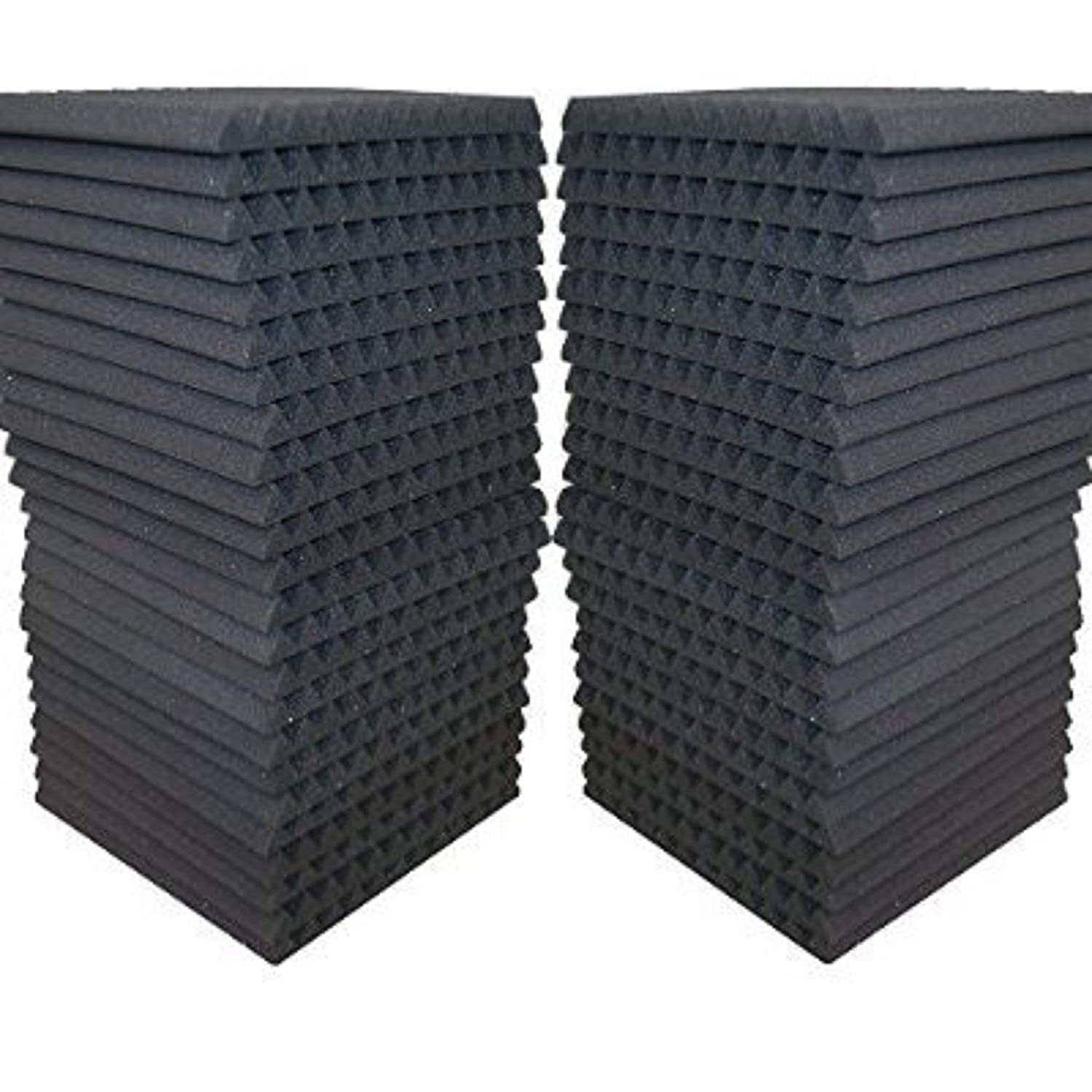 FoamEngineering Acoustic Panels Studio Soundproofing Foam Wedge Tiles, 12 X 12-Inches, 48 Pack AK TRADING CO. w1121248