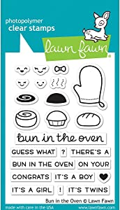 "Lawn Fawn Clear Stamps 3""X4"" - LF1317 Bun In The Oven"