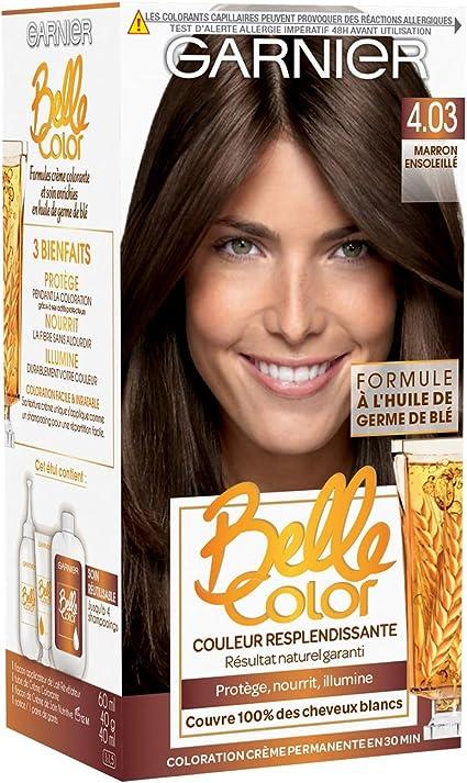 Garnier - Belle Color - Coloration permanente Châtain - 4.03 Marron ensoleillé naturel