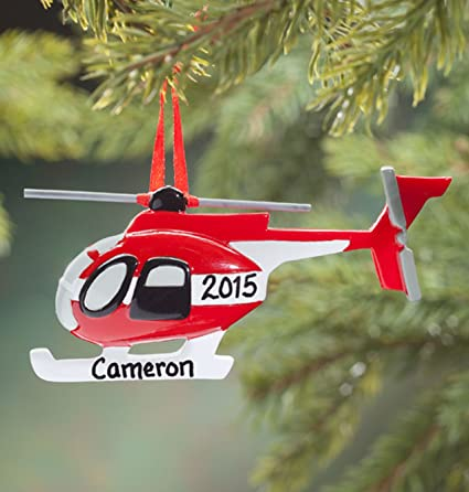 Fox Valley Traders Personalized Helicopter Ornament - Amazon.com: Fox Valley Traders Personalized Helicopter Ornament
