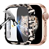 ZEBRE Case Compatible with Apple Watch Series 6/5/4 40mm, with Tempered Glass Screen Protector, Full Cover Ultra-Thin Hard PC