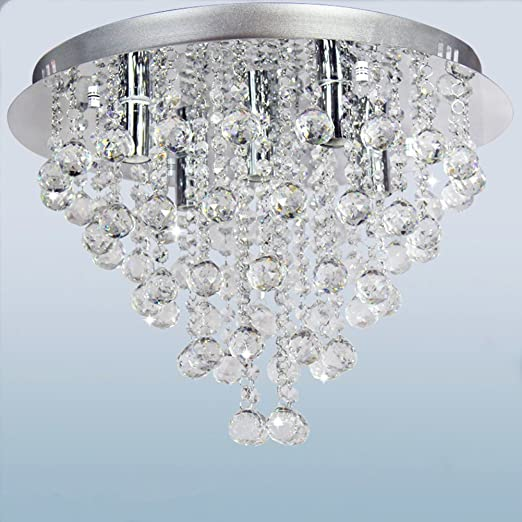 Ceiling Crystal Chandelier, Dst Round Transparent Crystal Ceiling ...