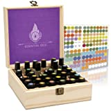 Amazon Price History for:Essential Oil Box Organizer - Best Solution For 10ml Roller Ball And 5 - 15ml Bottles. Holds 36 Oils. Natural Pine, Wooden Storage Case. Free EO Labels & Removable Padding
