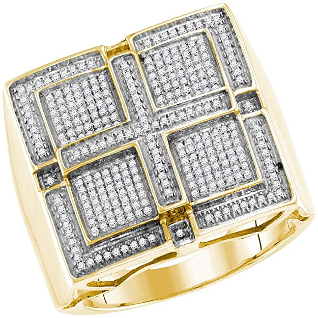 Anillo de cruz cuadrado de oro amarillo de 10kthttps://amzn.to/2X8HPKL