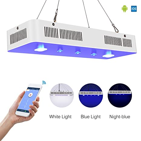 TOPLANET WIFI LED Lámpara de Acuarios 300 W COB Mando a distancia Led para Acuario 3