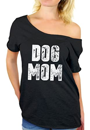 84ff88a7dde5f6 Awkward Styles Women s Dog Mom Off Shoulder Tops T Shirt Dog Lover Quote  Mom of Dogs
