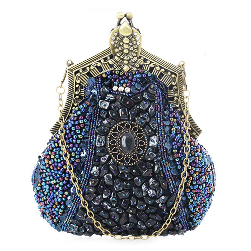 Small Vintage Evening Bag for Women Beaded Sequin Design Ladies Party Handbags women Crossbody Bag for Wedding Party