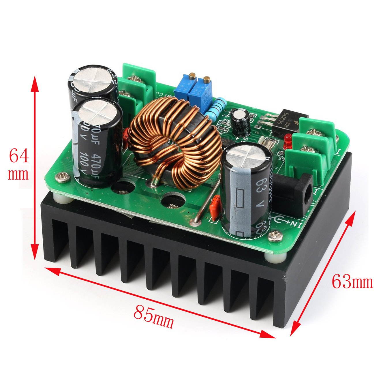 Geree Dc Boost Converter 10 60v To 12 80v Step Up Inductor Requirements For Converters And Filters In Automotive Voltage Regulator 600w Auto Power Supply Transformer Adjustable Output Volt Controller