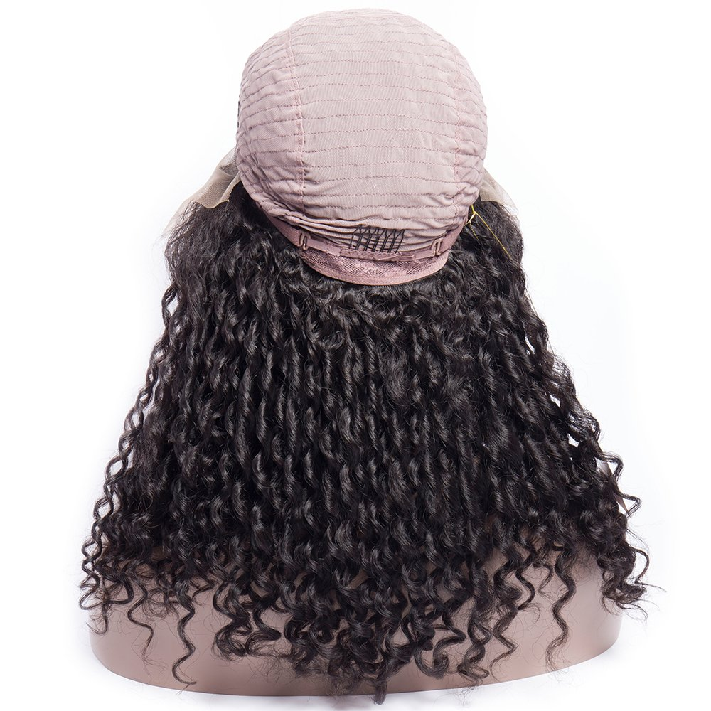 ... Curly Wig Human Hair Lace Front Wigs For Black Women 180% Density Full Hair Curly Wave Wigs With Adjustable Straps Natural Hairline 10 inch : Beauty