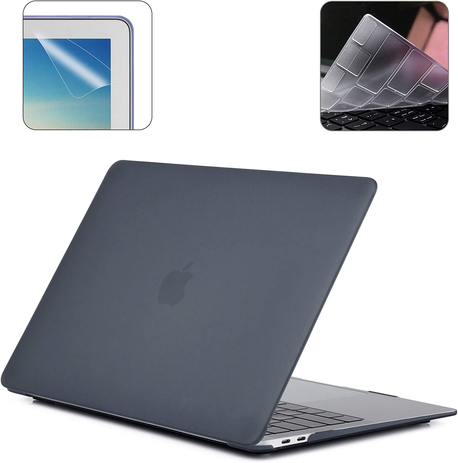 2019 Release New 16 Inch MacBook Pro A2141 Hard Case Pack with Plastic Hard Shell, Keyboard Cover & Screen Protector 16TWQ - Black