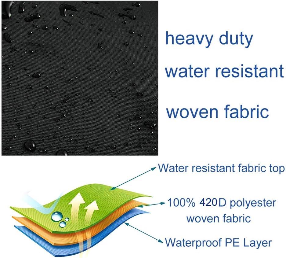 220 * 125 * 170cm, Grigio Keyohome Copertura Altalena 3 Posti Giardino Impermeabile in Poliestere 190T UV-Resistente Copertura Dondolo Durevole Utilizzate in Giardini Aperti