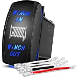 Nilight 90005B Momentary Laser Rocker Switch 7Pin Winch In Winch Wiring Harness Kit 20A/12V 10A/24V Switch jumper wires…