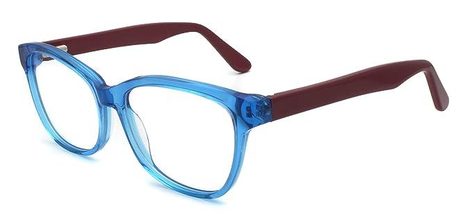 7d1eba7c3d Carmim Men Acetate Eyeglasses Clear Lens Eyewear Frame 51BG24010 (Crystal  Blue