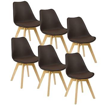 Woltu® - Juego de 6 sillas cocina comedor silla silla silla de ...