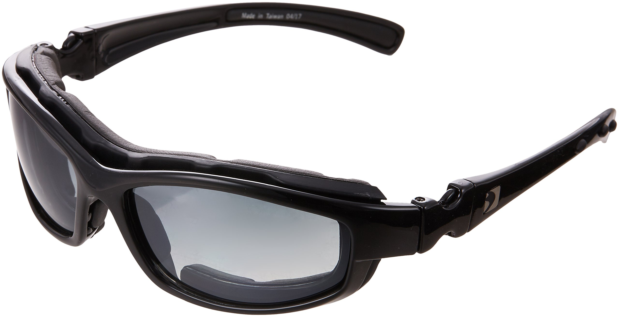Bobster BRH2001 Road Hog II Prescription Ready Sunglasses,Black Frame/4 Lenses (Dual Grade Reflective/Smoked/Amber and Clear),one size by Bobster