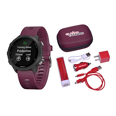 Amazon.com: Garmin Forerunner 245 Berry Clever Training ...
