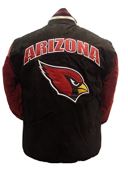 d1e845952eaa Licensed Sports Apparel Arizona Football Cardinals Black Two-Tone Suede  Jacket - M