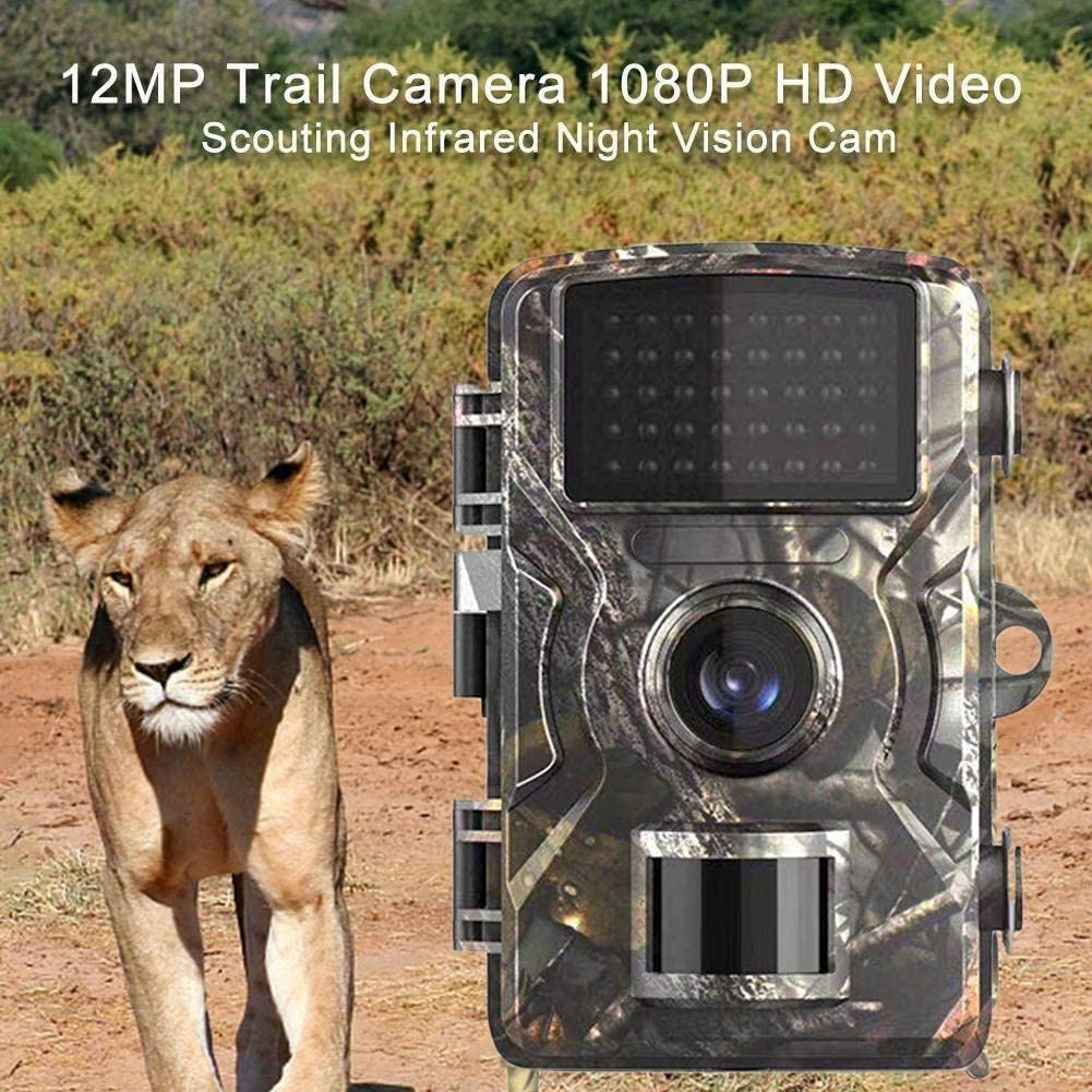 12 MP impermeable dise/ño de c/ámara de ciervos C/ámara de caza LED LCD de 2 pulgadas con visi/ón nocturna visi/ón nocturna Bobotron 1080P