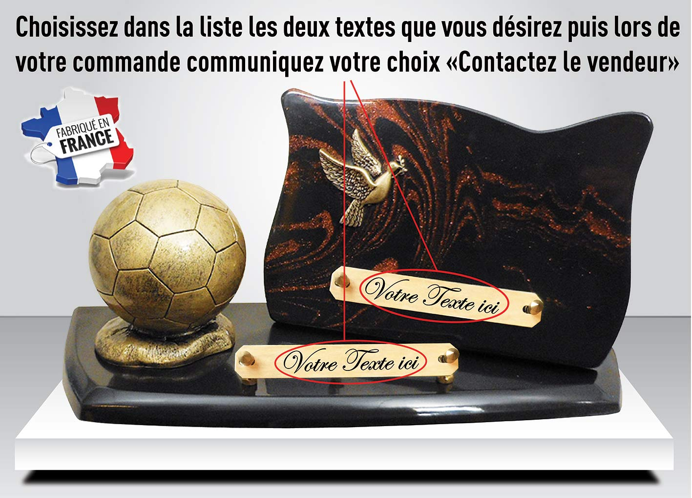 Plaque FUNERAIRE Football