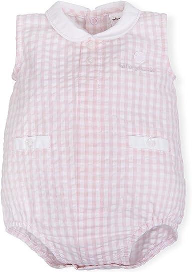 Tutto Piccolo 6384S19 Ropa para Bebé Niño o Niña Ranita Mono Peto Tricot de Algodón (Tallas de 0 a 24 Meses), Estampado de Cuadros Rosa y Blanco: Amazon.es: Ropa y accesorios