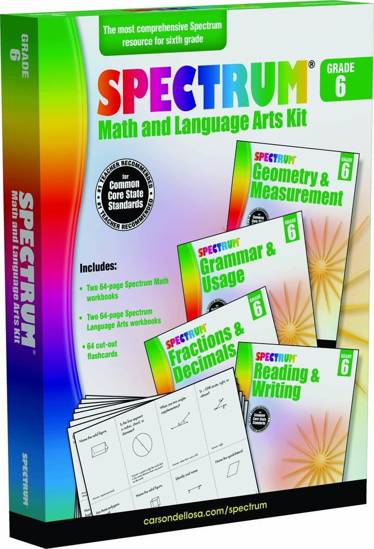 Spectrum Math and Language Arts Kit, Grade 6 pdf