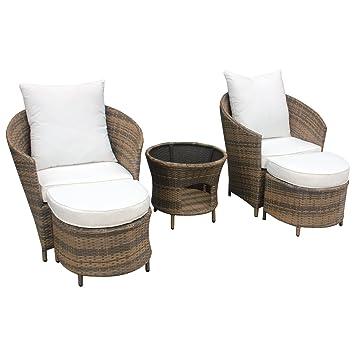 Amazon.de: Gartenmöbel Polyrattan Lounge Sitzgruppe Garnitur 2